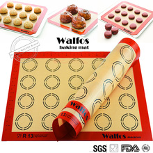 WALFOS Non-Stick Silicone Baking Mat Pad Sheet Baking pastry tools Rolling Dough Mat Large Size for Cake Cookie Macaron(China)