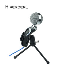 HIPERDEAL Adjustable Computer Desk Stand Studio Dynamic Mic VoIP Skype Desktop Microphone Black Fashion Music Antenna oct1(China)