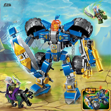 AZL The War of Glory Series Knight Armored Vehicles Assembly Bricks Building Blocks Bricks Sets Children Toys Gift(China)