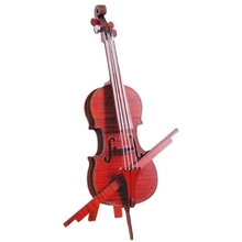 creative DIY wooden violin model to be assembled musical instruments ornaments wood decoration wood furniture shooting props