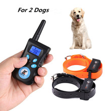 500M Electric Pet Dog Training Collar Trainer Remote Control Waterproof Shock Vibration Light Word Command Dog Training Device(China)