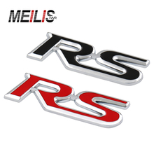 NEW Car-Styling RS Emblem Badge Trunk Sticker For Ford Focus Chevrolet Cruze Rio Skoda Octavia Mazda VW Hyundai Opel Seat(China)