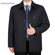 Mu Yuan Yang Plus Size 3XL 4XL Autumn Mens Jackets 50% Off Men' s Jackets 2017 Spring Casual Jackets For Male Coats & Jackets(China)