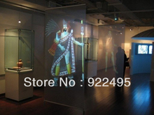 Free Fast Shipping, 3d holographic projection screen/ dark grey rear projector film with best price(1.524x4m)(China)