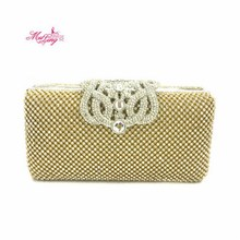 New Brand Women Crown Czech Diamond Rhinestone Clutches Bag Crystal Clutch Wallet Wedding Evening Purse Party Banquet Package