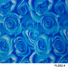 Free shipping!! FL052-4A 5square Width 0.5m Blue rose hydrographic printing film(China)