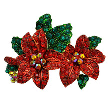 Christmas crystal flower Brooch Valentine's Day Accessories costume brooches brooches for wedding bouquets