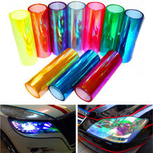 30*120cm Shiny Chameleon Auto Car Styling headlights Taillights Translucent film lights Turned Change Color Car film Stickers(China)