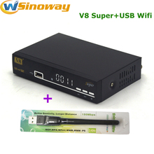 DVB-S2 Set Top box 1080p hd decoder digital Satellite receiver V8 Super include USB WIFI Dongle upgrade Openbox V8 Super