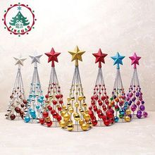 The Christmas tree decorations upscale mall layout iron ornaments 38cm plated ball ball tower tree model crafts(China)