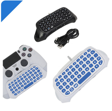 DOBE PS4 Mini Wireless Bluetooth Keyboard PS4 Handle Keyboard For Sony PlayStation PS 4 Wireless Keyboard Black White(China)