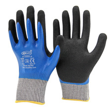 Nmsafety High Quality Doule Dipping Nitrile Palm Oil-proof & Cut Resistant Waterproof Glove