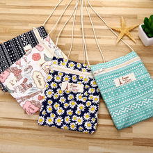 3Piece/13x17cm New Hand-printed Cotton And Linen Bag Shoulder Messenger Bag Small Fresh Fashion Multi-functional Packet