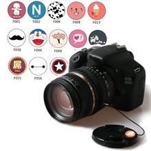 Lovely Personality Cartoon Lens Cap Keeper Rope LensCap Protector for Canon Nikon Sony DSLR Camera 5D 60D 700D 1300D D700 100PCS(China)