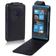 Free Shipping Newest High Quality Phone Cover Filp Up and Down Leather Case for Nokia Lumia 800
