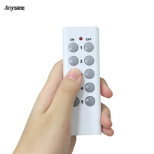 New 10 kyes Wireless remote control switch fixed code 433mhz rf socket transmitter work with anysane remote power socket plug