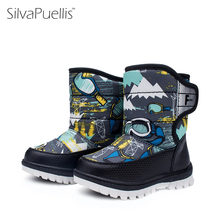 SilvaPuellis Children Boots Winter New Baby Snow Boots Girls Thickening Warm Shoes Boys Snow Boots Fashion Girls Rubber Boots(China)