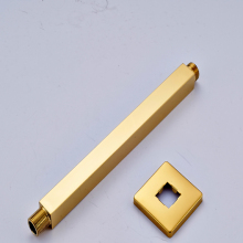 Free Shipping Brass Golden Square Wall Mounted Rain Shower Arm for Shower Head Shower Accessories