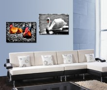 unframed wall art canvas painting 2 piece canvas art posters and prints wall art canvas home decor oil painting cock goose