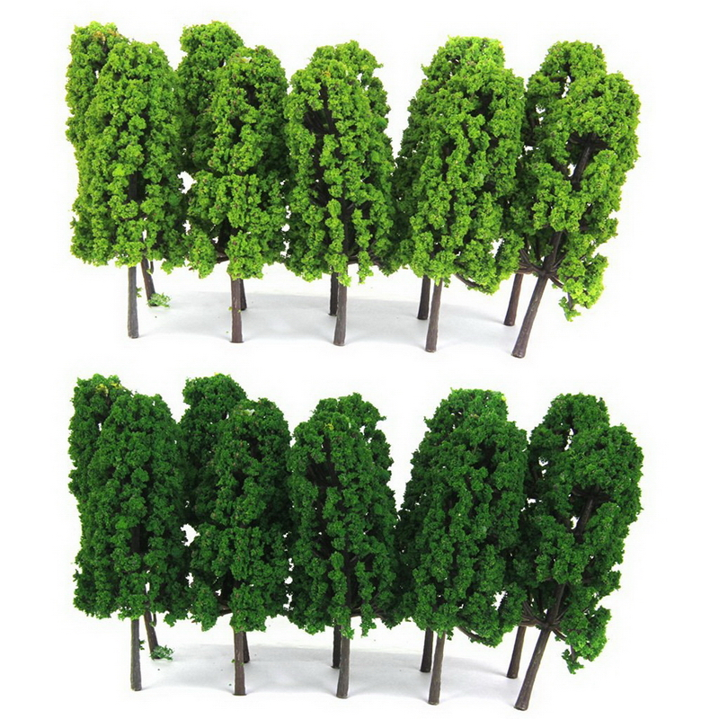 20Pcs/pack 1:150 Scale Pagoda Trees Model Train Railroad Scenery Sand Table Model Tree 8CM Height Hot Selling(China)
