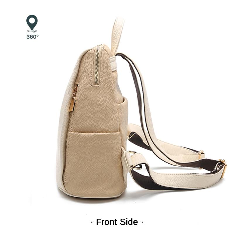 Lihtne ja stiilne valge või must seljakott