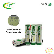 4-pack BTY 18650 battery INR 18650 29E 2900 mAh 3.7V 18650 rechargeable Battery Max discharge 10A electrical tools battery(China)