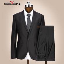 Seven7 Brand Men Fashion Dress Suits 2 Pieces(Jacket an Pant) 1 Button Front Suit Young Men Slim Fit Trendy Suits Sets 705C1216
