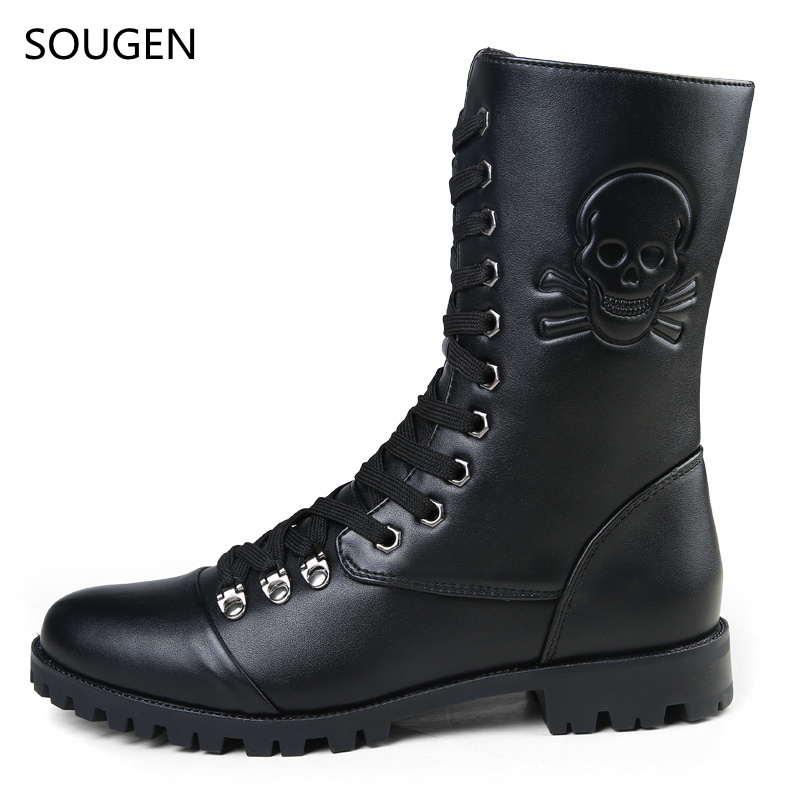 2017 Snow Boots Plush Cowboy Mens Leather Autumn Boot Fashion Formal Genuine Luxury Cow Ankle Male Social Shoe Special Forces<br><br>Aliexpress