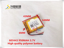 603443   950MAH SDL Original Battery brand batteries GPS navigation built- in lithium polymer battery
