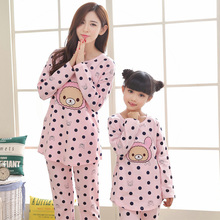 Christmas family pajamas quality family pajamas mother daughter matching sleepwear polka dot bear family sets girl mother suits
