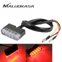 MALUOKASA Motorcycle Mini Rear Light Stop Lamp Motorbike Brake Light Taillight Custom Cafe Racer For JEEP SUV Truck Trailer Moto