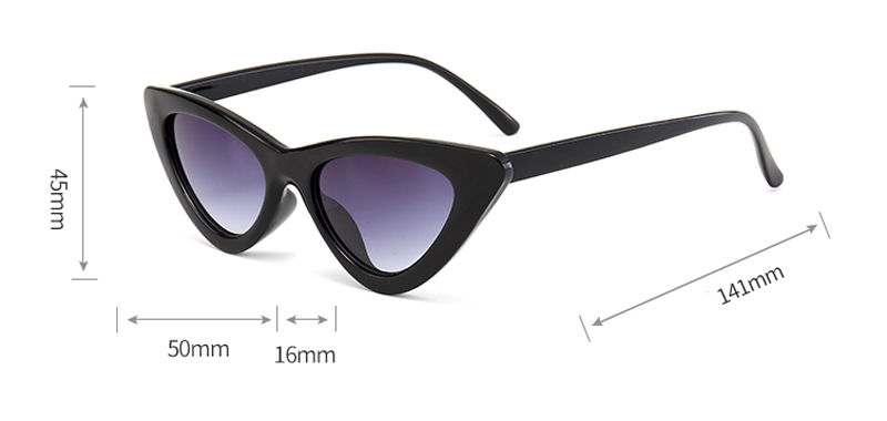 cute sexy retro cat eye sunglasses women small 0310 details (1)