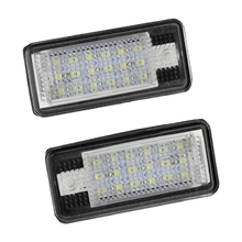 2x 18 LED License Number Plate Light Lamp For Audi A3 S3 A4 S4 B6 A6 S6 A8 S8 Q7(China)