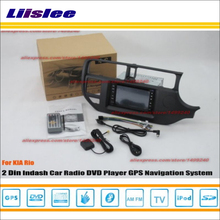 Liislee For Kia Rio Right Hand Drive RHD 2012~2015 Radio DVD Player GPS Navi Navigation System Double Din Audio Installation Set(China)