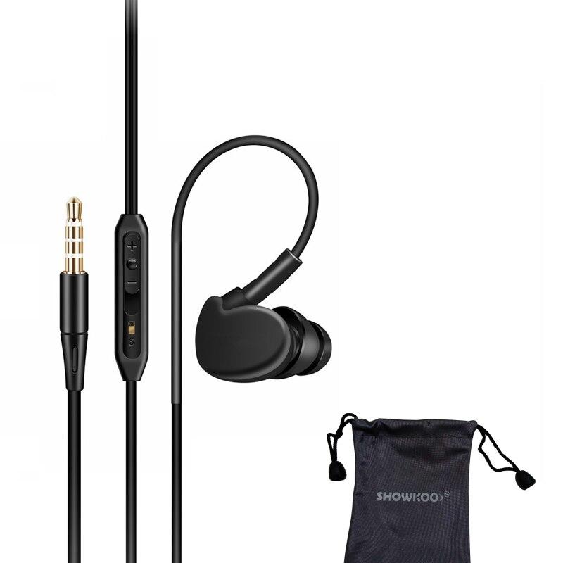 2018 Newest Showkoo In-ear High quality earphone for Xiaomi mi8 mi6 note 3 Huawei P20 Universal with mic 1.2M Long headphone