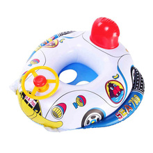 New Cute Baby Inflatable Swimming Pool Ring Seat Floating Car Shape Boat Aid Trainer with Wheel Horn Suit  High Quality