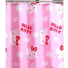 1 Pcs Cartoon Hello Kitty Waterproof PEVA Shower Curtain For The Bathroom With Plastic Hooks