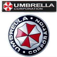 3D Aluminum Umbrella corporation car sticker accessories stickers ford bmw audi vw toyota chevrolet cruze kia rio octavia