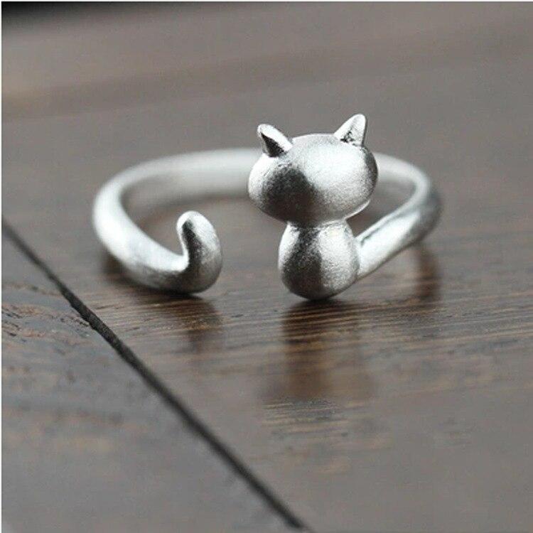 DoreenBeads-Cute-Cat-Open-Ring-Sweet-Kitten-Ring-Copper-Silver-Color-Fashion-Trendy-Women-Jewelry-Female