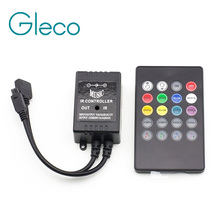 LED Music IR Controller 12V 6A 24 Keys IR Remote Controllers for 3528 5050 RGB LED Strip Lights Mini Controller(China)
