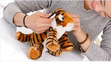 small cute plush yellow tiger toy stuffed lovely tiger doll gift about 25cm 141