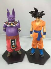 2pcs/set 17CM Cartoon Dragon Ball Z Beerus SON GOKU cool pvc action figure doll model toy