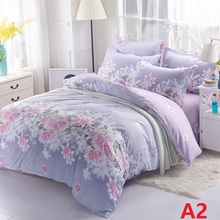 hot sale polyester bedding set queen size duvet cover set bed sheet set(China)