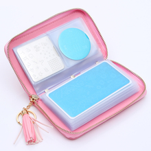 24 Slots BORN PRETTY Stamping Plate Holder Case Round Square Rectangular Nail Art Stamp Template Organizer(China)