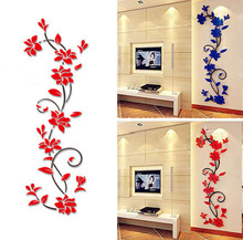 New Year  24 * 80cm Merry Christmas Wall Sticker Home Shop Windows Decals Decor Removable acrylic mirrored decorative sticker