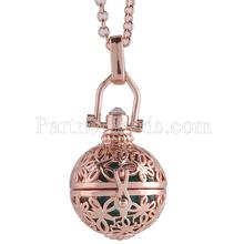 Partnerbeads Geometric Angel Lockets Plated Inlaid CZ Stone Stainless Steel Cage Prayer Box (exclude the ball) AC3764R