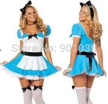 FREE SHIPPING 4389 STORYBOOK ALICE LADIES FANCY DRESS COSTUME FAIRY TALE ALICE IN WONDERLAND OUTFIT