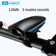 INBIKE 120 db High Decibel Bike Horn Electric USB Charging MTB Road Bike Cycling Accessories Bicycle Horn Retro Electronic Bell(China)