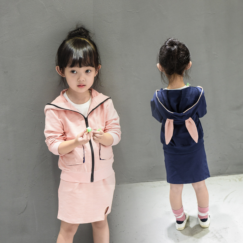 High Quality Fashion Girls Clothing Sets Patchwork Hoodies+skirt 2pcs Spring Summer Baby Kids Clothes Set 2017 Brand New<br><br>Aliexpress