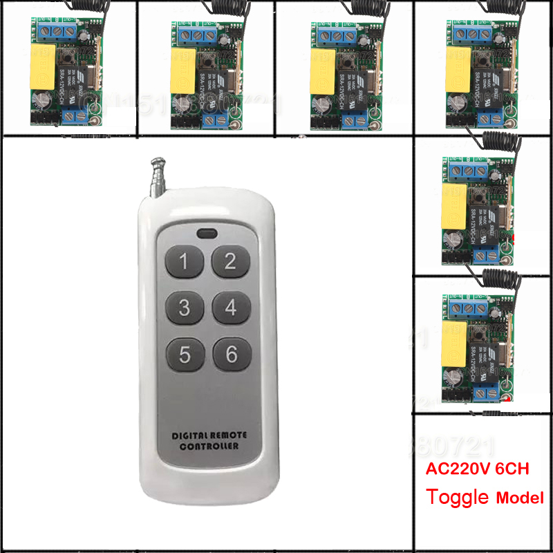 Mini AC220V Wireless Remote Control Switch Long Range Transmitter Receiver 200-500m Lamp LED Lighting Switch 315 433.92MHZ<br>
